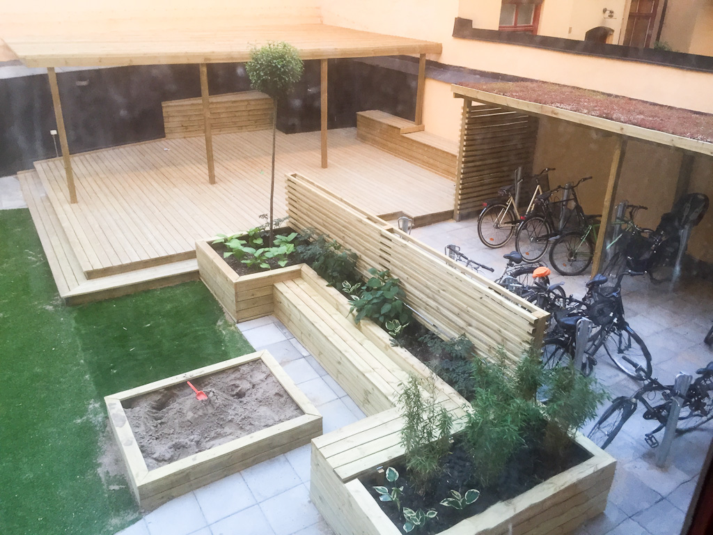 Brf innergårdar renovering trädgårdsdesign i stockholm o malmö ...